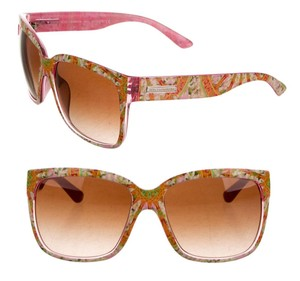 Dolce&Gabbana Floral Mosaic Dolce and Gabbana Sunglasses Geometric Paisley Pink Flowers Womens 2016 w Case