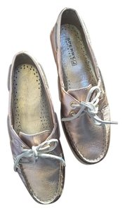 Sperry Boat Metallic Rose gold Flats