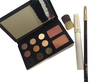 Lancome make up palette with 9 eye shadows, 2 blushes, 1 brush, one eye pencil in brown and CILS Booster XL for eye lashes