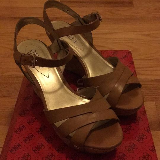 Guess Taupe Wedges Image 1