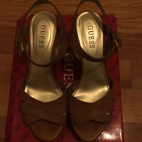 Guess Taupe Wedges Image 3