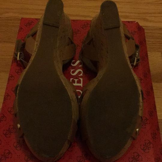Guess Taupe Wedges Image 5