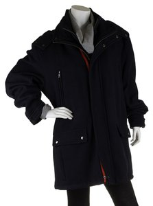 Marc New York Wool Men's Hooded Pea Coat