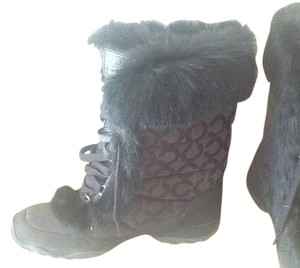 Coach Snow Winter Black Boots