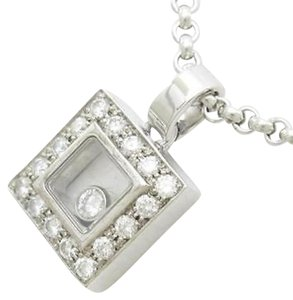 Chopard CHOPARD Happy Diamond Square Necklace with Pendant and Chain