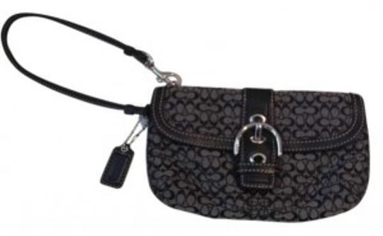 Preload https://item5.tradesy.com/images/coach-black-and-grey-canvas-with-leather-trim-wristlet-160739-0-0.jpg?width=440&height=440