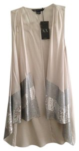 A|X Armani Exchange Sequin Vest Pretty Night Out Dressy Tunic