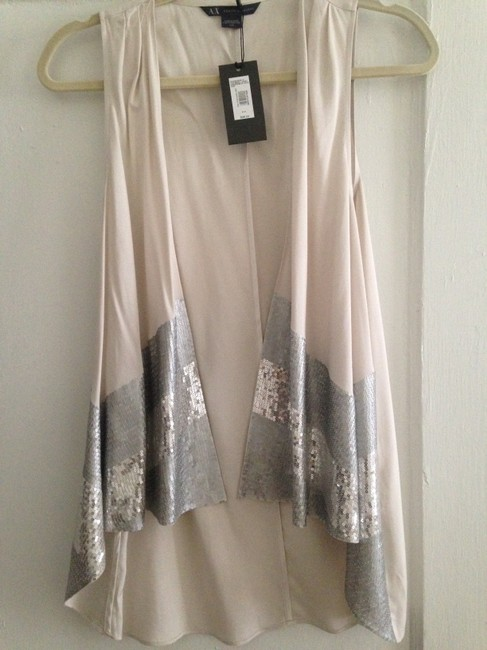 A|X Armani Exchange Sequin Vest Pretty Night Out Dressy Tunic Image 2