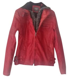 BTE outerwear red Leather Jacket