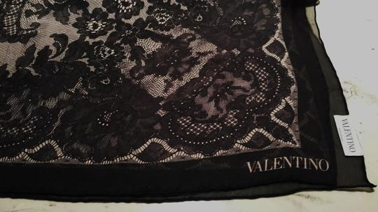 Valentino Couture Silk Chiffon Embroidered Lace Foulard Image 3