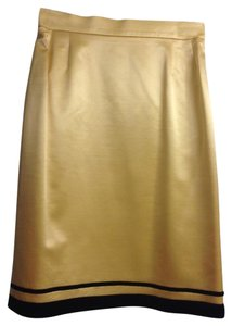 Escada Vintage Pencil Skirt Yellow