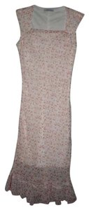 Jonathan Martin short dress Pink Floral Diaphanous Ruffled Midi on Tradesy