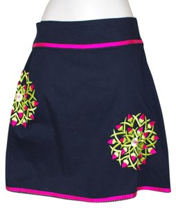 Persaman New York Mini Skirt black floral