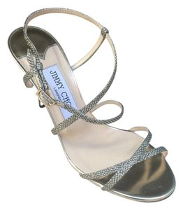Jimmy Choo Sandal Glitter Formal Gold Light Bronze Sandals