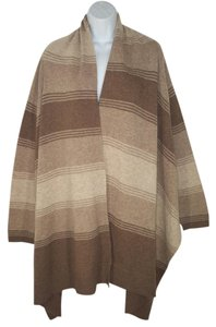 Eddie Bauer Wool Cashmere Stripe Draped Cardigan