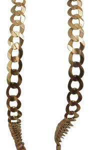 Estate 10kt Yellow Gold Cuban Link Necklace, 22 inches, 11.2gr, Italy