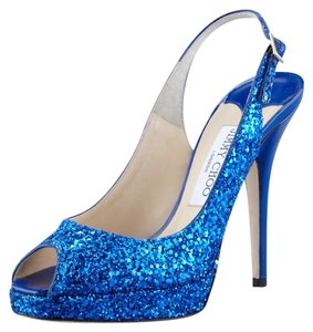 Jimmy Choo Blue Platforms