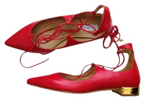 Saks Fifth Avenue Aquazzura Crystal Red Flats