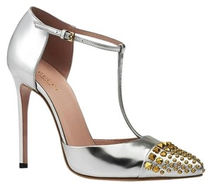 Gucci Women Silver Pumps
