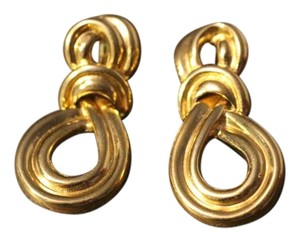 Givenchy Vintage Givenchy Gold Knot Earrings