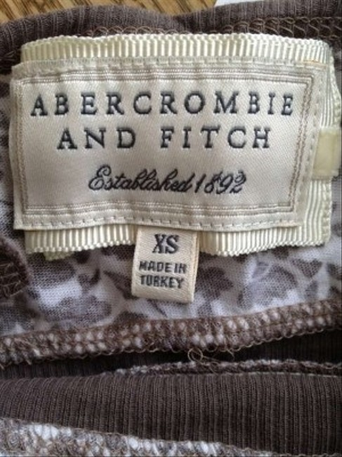 Abercrombie & Fitch Top Brown and White