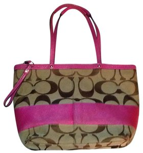 Coach Tote in Pink/Brown