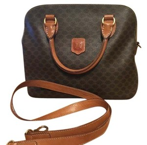 Céline Purse Leather Tote in Brown