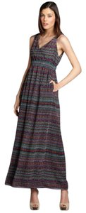 Multi Colored Purples/Burgundy/Teal Maxi Dress by Phoebe Couture Boho Maxi Tribal Aztec Summer