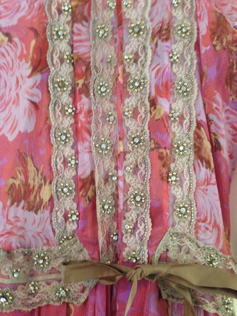 Plenty by Tracy Reese New Floral Knee-length Lace Trim Embroidered Dress
