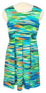 Calvin Klein Colorful Pleated A-line Dress