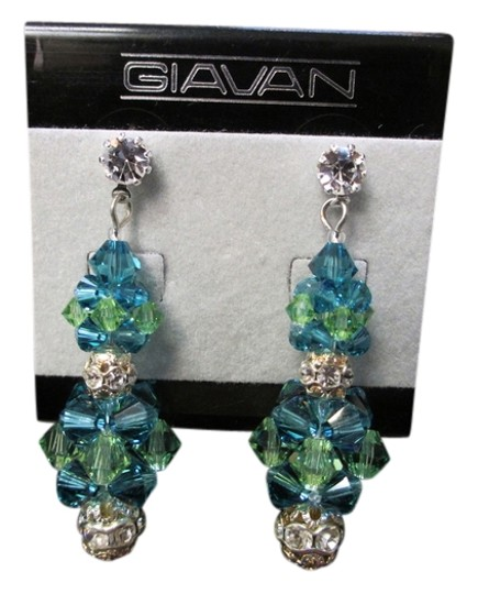 Giavan Giavan (E-12) HOL231E Iridescent Rock Candy Earrings