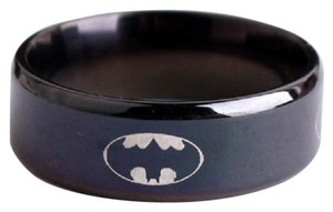 DC Comics NEW Batman Black Stainless Steel Gotham Ring