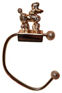Dabielle B Adorable Purse Hanger Poodle Gold and Silver Plated with box