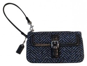 Coach Wristlet in Blue and Black