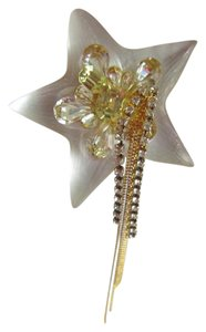 Alexis Bittar Alexis Bittar White Imperial Lucite Star Tassel Pin Brooch