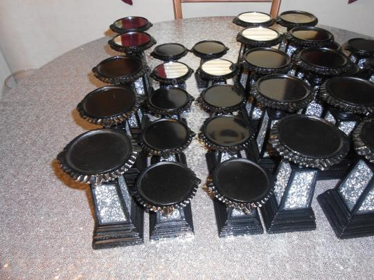 Ten Sets Of Black Mosaic Candlesticks 7