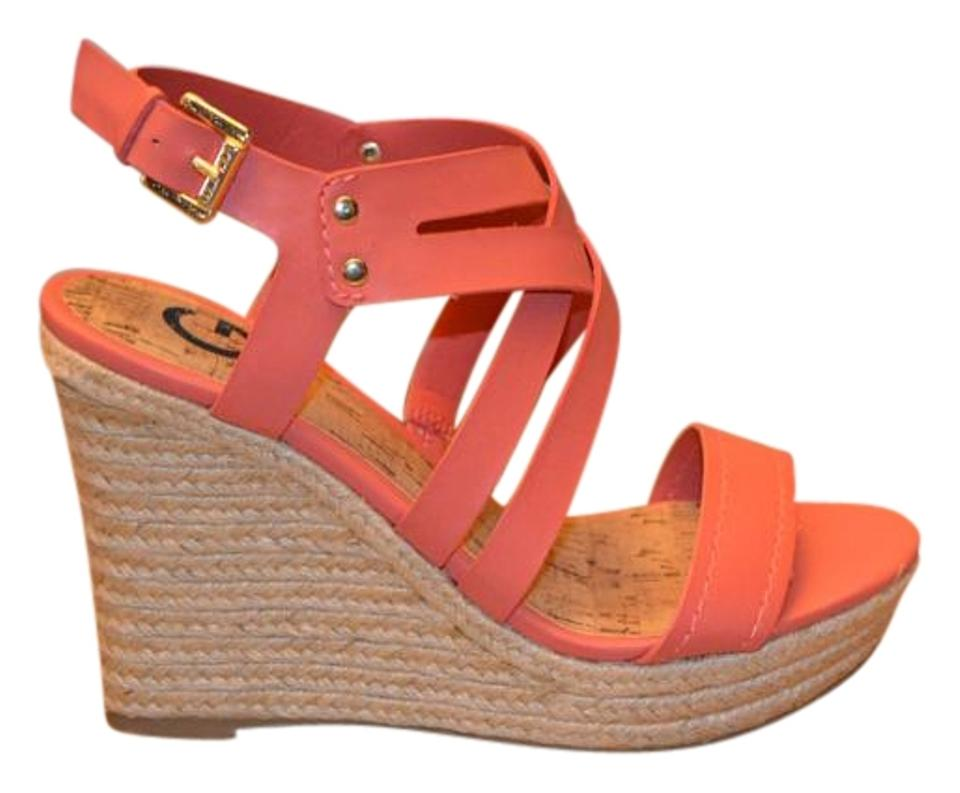0e1438efe20 Guess Coral Wedge Sandals Size US 7 Regular (M