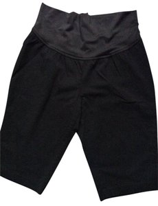 Bisou Bisou Bisou Bisou Maternity Black Cropped Capri Maternity Pants Sz L Stretchy