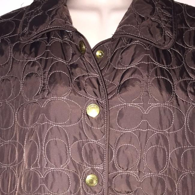 Coach Brown Quilted Jacket