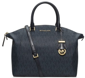 Michael Kors Riley Signature Mk Logo Large 889154864412 30h5grls3b Satchel in Baltic Blue