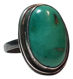 Other Vintage sterling silver 925 ring with green stone