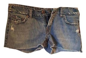 Silver Jeans Co. Co Cutoff Shorts Distressed Light Wash Denim