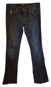 Lucky Brand Jeans Distressed Boot Cut Pants Dark Wash Denim