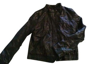 Xhilaration Faux Leather Polyester Lining Dark brown Leather Jacket