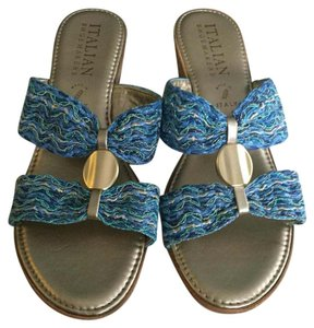 Other Tan and blue Sandals