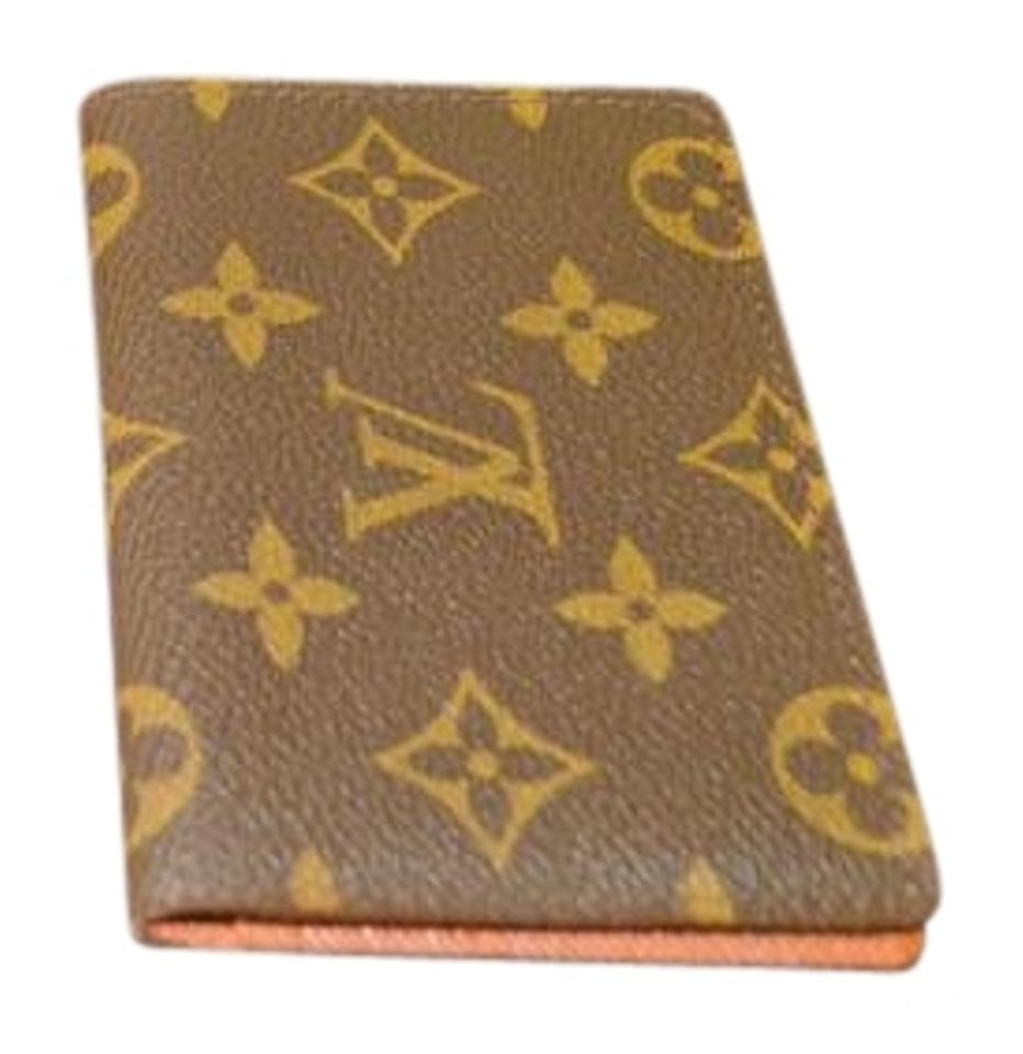 Louis Vuitton Monogram Brown Canvas Envelope Business Card Holder ...
