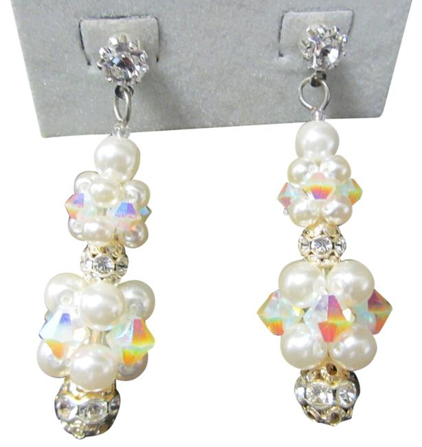 Giavan White Opal Ab/ Snow White Pearls Candy Hol231e- (E18) Rock Crystal/Pearl Earrings Giavan White Opal Ab/ Snow White Pearls Candy Hol231e- (E18) Rock Crystal/Pearl Earrings Image 1