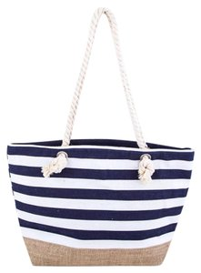 GBS Tote in Navy + White