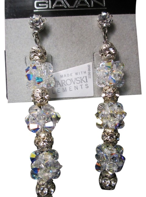 Item - Clear/Ab Crystals Hol242e (E-19) Earrings