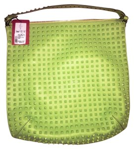 Valentino Leather Rockstud Tote in Green